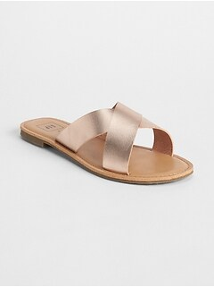 Crossover Slip-On Sandals
