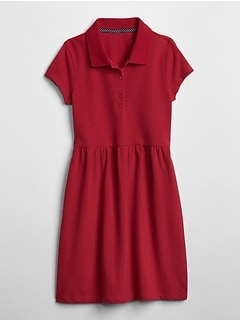 Uniform Short Sleeve Polo Dress