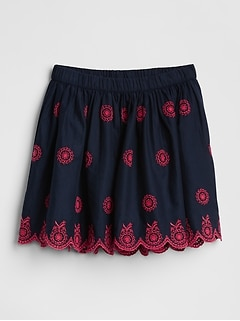 Scalloped Eyelet Flippy Skirt