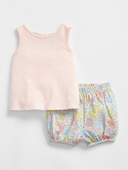 Bow Back Bubble Short Set by Gap
