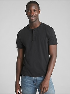 Essential Short Sleeve Henley T-Shirt