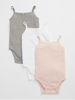 Favorite Picot Trim Bodysuit (3-Pack)