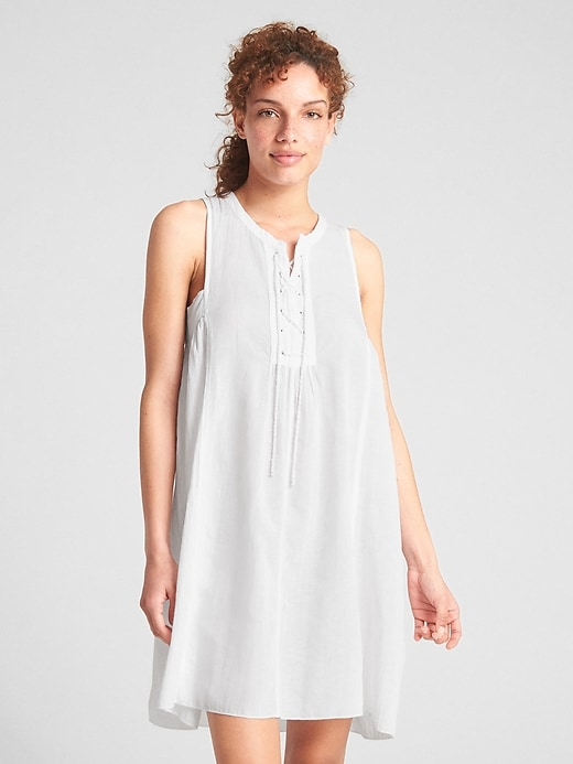 Dreamwell Sleeveless Lace Up Dress by Gap