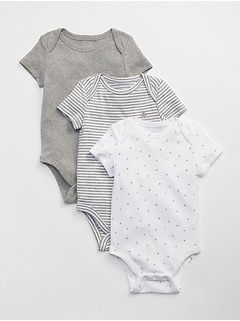 First Favorite Short Sleeve Bodysuit (3-Pack)
