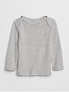 First Favorite Stripe Long Sleeve T-Shirt