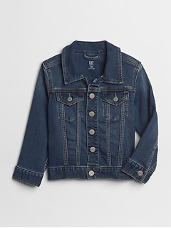 Toddler Icon Denim Jacket with Washwell™