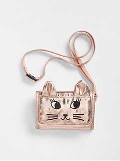 Metallic Cat Wallet