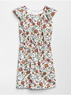 Floral Tie-Belt Dress