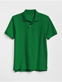 Kids Uniform Short Sleeve Polo Shirt