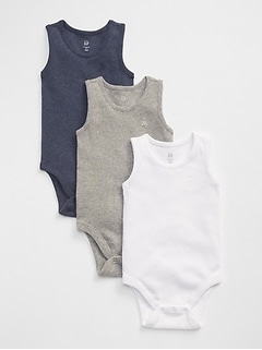 Baby First Favorite Ribbed Tank Bodysuit (3-Pack)