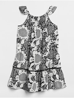 Print Flutter Tier Dress