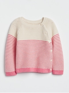 Baby Stripe Garter Sweater