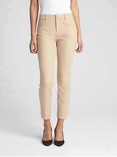 Skinny Ankle Pants in Stretch Linen Twill
