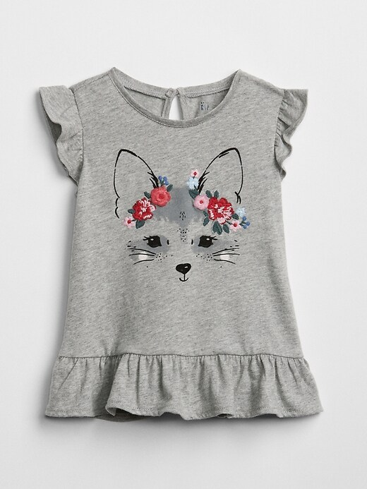 Peplum Graphic T Shirt by Gap