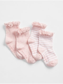First Favorite Crochet Trim Socks (2-Pack)