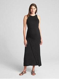 Maternity Ruched Tank Maxi Dress