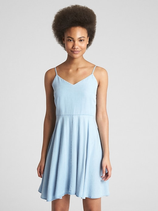 Fit And Flare Cami Dress In Tencel™ by Gap