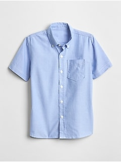 Kids Uniform Oxford Short Sleeve Shirt