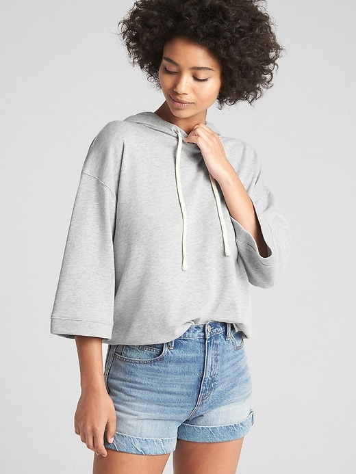 Wide Sleeve Pullover Hoodie In French Terry by Gap