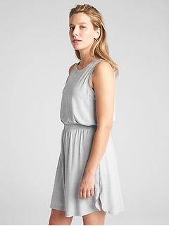 GapFit Sleeveless Cut-Out Dress in Brushed Tech Jersey