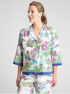 Dreamwell Print Long Sleeve Top