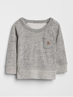 Marled Pocket Sweatshirt