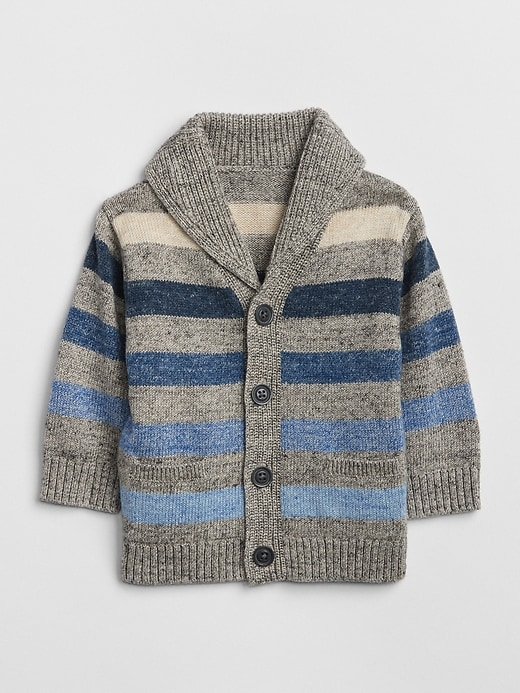 Stripe Shawl Cardigan Sweater by Gap