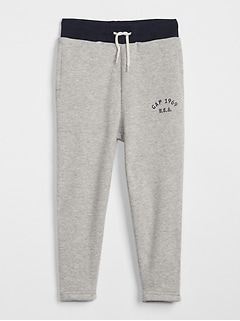 Pull-On Logo Pants in Fleece