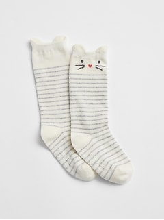 Cat Knee-High Socks