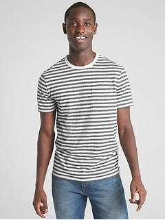 Marled Stripe Pocket T-Shirt