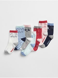 Critter Days-of-the-Week Crew Socks (7-Pack)