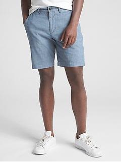 "10"" Wearlight Chambray Shorts with GapFlex"