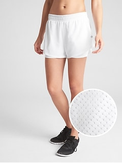 "GapFit 5"" Perforated Double-Layer Shorts"