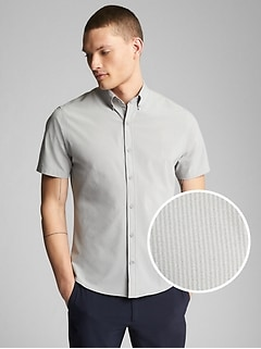 Hybrid Short Sleeve Button-Down Shirt