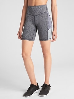 "GapFit Mid Rise 8"" Colorblock Bike Shorts in Performance Cotton"