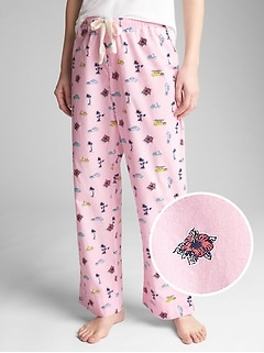Dreamer Print Drawstring Pants in Poplin