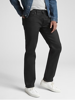 Selvedge Jeans in Straight Fit with GapFlex
