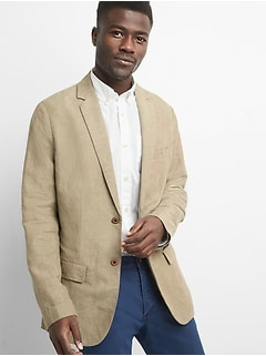 Linen-Cotton Blazer