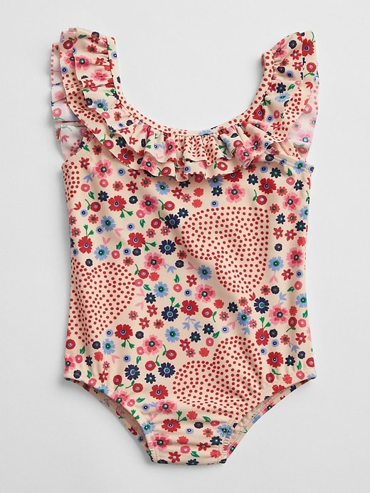 Print Ruffle Swim One Piece by Gap