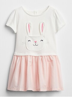 Bunny Mix-Fabric Dress