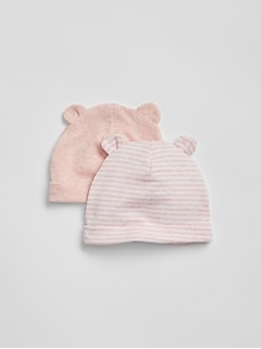 First Favorite Stripe Bear Hat (2-Pack)
