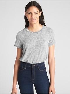 Softspun Velvet-Trim Crewneck T-Shirt
