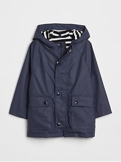 Toddler Jersey-Lined Raincoat