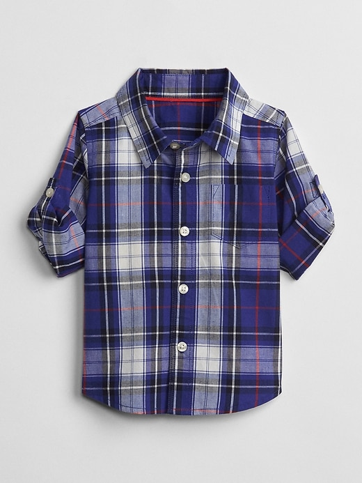 Plaid Convertible Shirt by Gap