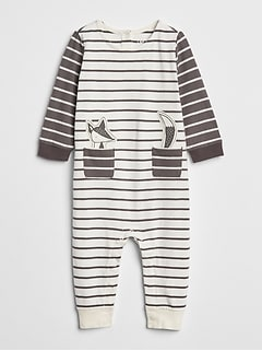 Organic Stripe Graphic One-Piece