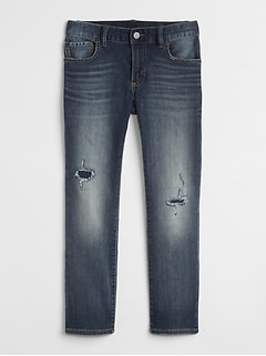 Rip & Repair Slim Fit Jeans in Supersoft