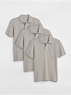 Kids Uniform Short Sleeve Polo Shirt (3-Pack)