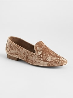 Crushed Velvet Loafers