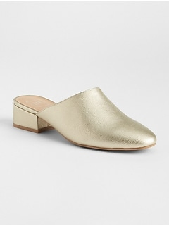 Low Block Heel Mules