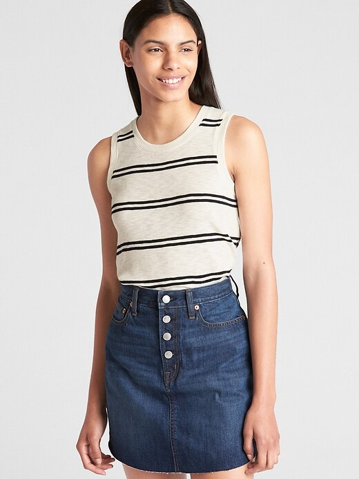 Stripe Knit Tank Top by Gap